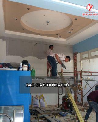 Báo giá sửa chữa nhà phố 2019