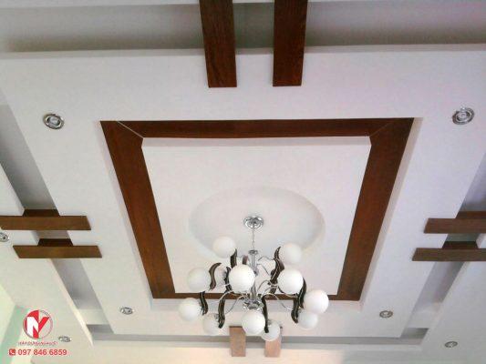 thi công trần thạch cao cho phòng khách