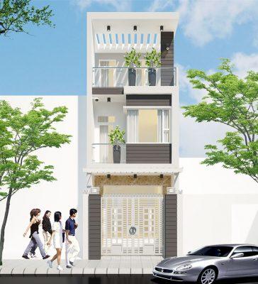 Tư vấn xây nhà 3 tầng đẹp 5m