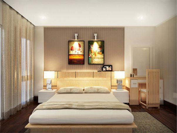 Mẫu phòng ngủ master nhà 2 tầng đẹp