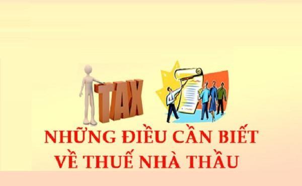 thuế nhà thầu tiếng anh là gì